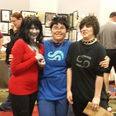 M3T 1rl john and 1rl human!karkat! WhaT cuTi3s! #cosplay #oddmall #homestuck