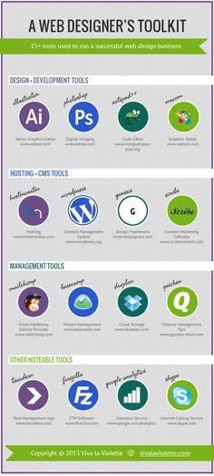 Infographic- A Web Designer's Toolkit www.vivalaviolette.com