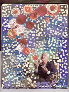 The Magician Practices Her Art by Paulos Tran. A collage that features scraps from The New Yorker, Art & Auction Magazine, a Mont Blanc catalog, and more.