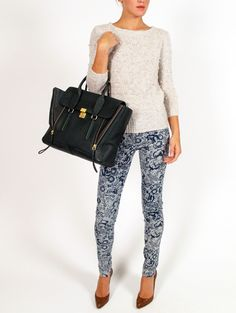 Girl. By Band of Outsiders Printed Denim Pant, $160