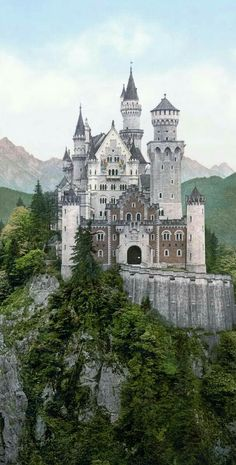 Schloss Neuschwanstein (Neuschwanstein Castle) another front view Places Around The World, Oh The Places You'll Go, Places To Travel, Places To Visit, Beautiful Castles, Beautiful Buildings, Beautiful Places, Real Castles, Amazing Places