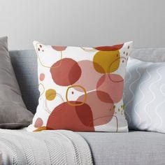 'Spots and Circles. Digital Art' Throw Pillow by Florcitasart My Drawings, Circles, Original Artwork, Abstract Art, Digital Art, My Arts, Vibrant, Cushions, Throw Pillows
