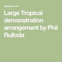Large Tropical demonstration arrangement by Phil Rulloda