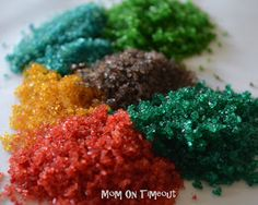 Mom On Timeout: How To Make Your Own Colored Sugar