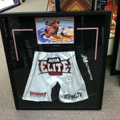Ultimate fighting shorts display