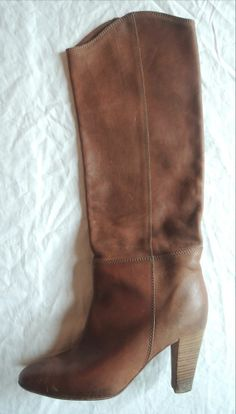 ~ ISABEL MARANT DELPHIA BROWN LEATHER KNEE HIGH BOOTS (COOL GIRL FAVE!) 41