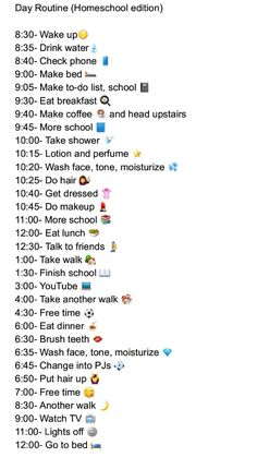 I forgot to write brush teeth in the morning part but I'm too lazy to add it in so 😂😂😂 also you might wonder why I take 3 walks i honestly have no idea I'm just bored soooooo School Routine For Teens, Morning Routine School, Healthy Morning Routine, Life Hacks For School, Girl Life Hacks, School Routines, Morning Routine Chart, Daily Routine Schedule, Beauty Routine Schedule