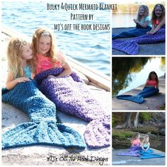 Mermaid Crochet Blanket Pattern - find lots of free patterns in our post