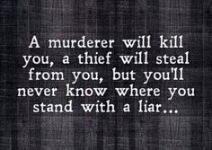 Murder, Theft & Lying