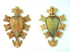 MY HEALING HEART / ©2013 Lorena Angulo / Bronze (Goldie Bronze) / 3.64 inches by 2.48 inches