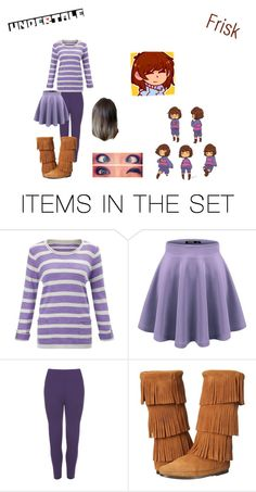 """""""Frisk~ undertale"""" by pastel-goth-for-life ❤ liked on Polyvore featuring art"""