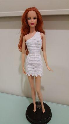 Barbie Wilma-Flintstone-Inspired Bodycon Dress (Free Crochet Pattern)