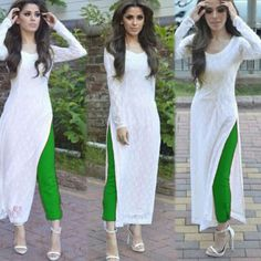 Indian Pakistani Designer Suit Bollywood Dress Green Whit A Kurta Designs Women, Salwar Designs, Kurti Designs Party Wear, Pakistani Designer Suits, Pakistani Dress Design, Indian Designer Wear, Pakistani Suits, Dress Indian Style, Indian Outfits
