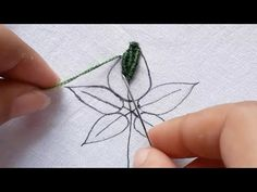 Embroidery Leaf, Brazilian Embroidery, Stitch Design, Hands, Make It Yourself, Beautiful, Videos, Youtube, Embroidery Designs