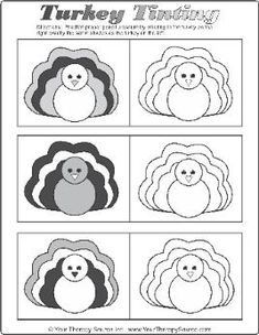 Practice grading of pencil pressure with this turkey activity - repinned by @PediaStaff – Please Visit  ht.ly/63sNt for all our ped therapy, school & special ed pins