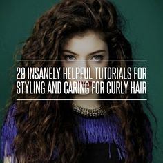 3. 3 Easy Hairstyles for Curly Hair - 29 Insanely Helpful Tutorials for Styling and Caring for Curly Hair ... → Hair
