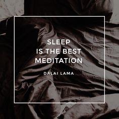 """Sleep is the best meditation"" - Dalai Lama Sleep Quotes, Best Meditation, Dalai Lama, Good Night Sleep, Linen Bedding, About Uk, Wise Words, Rest, Europe"