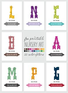 freeprintablenurseryart 30 fabulous free printables {for the home}