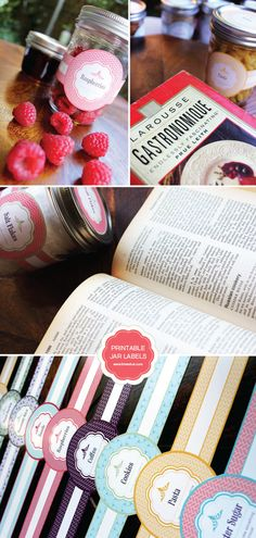 Free Printable Mason Jar Labels #diy #food #cooking
