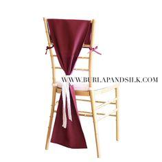 Chiavari Chair Hoods Burgundy, Burgundy Chair Covers, Chiavari Chair Drapes   Wedding Chair Covers, Table Decor, Wedding Decorations