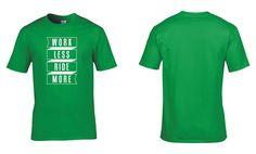 Work Less Ride More Mens Cotton T-Shirt Road Mountain BMX Touring Cycling Tour de France Retro Cycling Clothing NEW