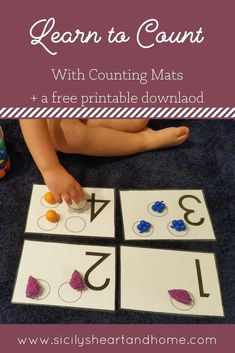 Counting Activities | Math Activities for Toddlers | Math Activities for Preschoolers | Number Activities #homeschoolingideasfortoddlers #mathfortoddlers