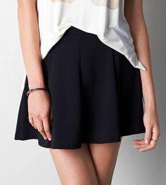 Black Don't Ask Why Ponte Circle Skirt