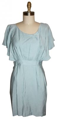 BCBGeneration short dress light blue flutter sleeves, cut outs, low back on Tradesy- dress up with a belt or bulky jewlery!! Super cute!