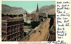 Ogden Utah 1905 Town 24th Street Court House M E Catholic Churches Postcard