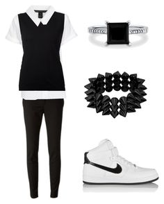 """""""EXO - Love Me Right (D.O inspired outfit)"""" by lucky-unicorn ❤ liked on Polyvore featuring Gucci, Frame Denim, Nina Ricci, Marc by Marc Jacobs, NIKE, BERRICLE, women's clothing, women, female and woman"""