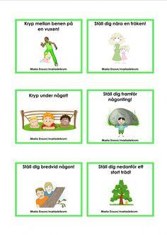 Uppdragskort-Skogen/matematik Educational Activities For Kids, Nature Activities, Classroom Activities, Preschool Library, Preschool Math, Outdoor Education, Outdoor Learning, Math For Kids, Crafts For Kids