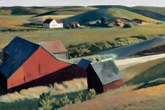 Edward Hopper -- Cobb's Barns and Distant Houses -- 1930-33