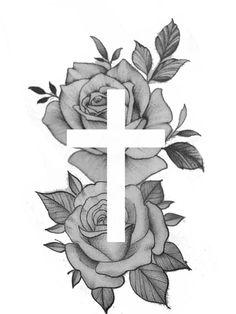 Cool Cross Tattoos, Cross Tattoos For Women, Cool Forearm Tattoos, Dope Tattoos, Leg Tattoos, Family Tattoo Designs, Cross Tattoo Designs, Tattoo Sleeve Designs, Tattoo Designs Men
