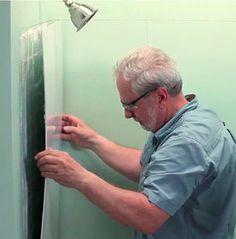 Installing Shower Walls-Glue-Up