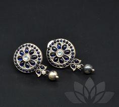Silver Earrings, Silver Jewelry, Pearl Earrings, Jewelry Shop, Handmade Jewelry, Unique Jewelry, Gutta Pusalu, Hindu Bride, Neck Piece