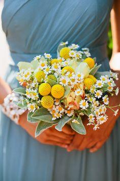A bridesmaid bouquet with chamomile | Brides.com
