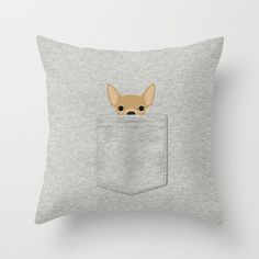Pocket Chihuahua - Tan Throw Pillow