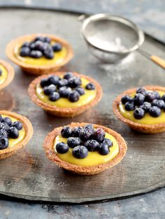 Lemon Curd Tartlets. These look super easy