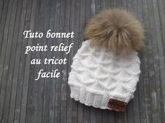 TUTO BONNET POINT RELIEF TRICOT Beanie hat relief knitting GORRO PUNTO R...