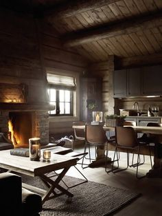 Rustic wooden cottage in Norway
