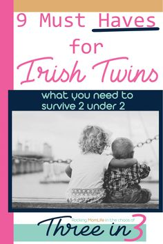 Practical 2 Under 2 Must Haves I Loved - Three in 3 What you need when you're expecting Irish Twins. The must-have items to help you survive 2 under Parenting Irish Twins, Thing 1, Twin Boys, Baby Milestones, Cute Baby Girl, Baby Gear, Toddler Activities, Parenting Hacks, Must Haves