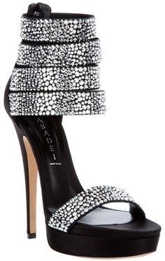 CASADEI: Swarovski Studded Sandal