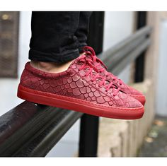 """Axel Arigato bordeaux """"fish"""" embossed suede sneaker with a classic design, handcrafted with premium Italian materials. #axelarigato #sneakers #mensfashion"""
