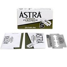 ASTRA stainless double edge blades fit all double edge razors. ASTRA blades are made from the highest quality steel. Each ASTRA blade provides unsurpassed quality, smoothness and durability for a long lasting, smooth shave. Best Safety Razor, Safety Razor Blades, Shaving & Grooming, Shaving Soap, Men's Grooming, Natural Face Wash, Beard Tips, Beard Wash, Stainless Steel Bowl