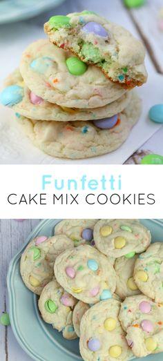 M&M funfetti cake mix cookies recipe