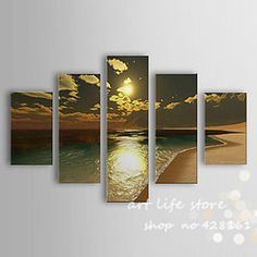 Online Shop 2015 Handmade Wall Art All Loved Sea Scape Beauty Sun Set Scenery Wall Pictures For Living Room Oil Painting Home Decoration|Aliexpress Mobile