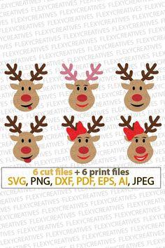 Rudolf Christmas SVG, Xmas, Reindeer SVG, Boy and Girl Reindeer, Christmas SVG, Rudolf svg files for