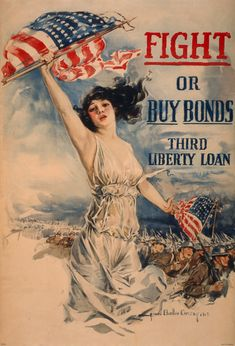 Fight or Buy Bonds. Third Liberty Loan. Art by Howard Chandler Christy. WWI poster, c 1917.