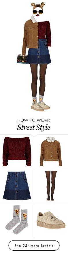 """""""STREET STYLE #8"""" by theywerebulletsmofo on Polyvore featuring Valentino, Fogal, Topshop and Lime Crime"""
