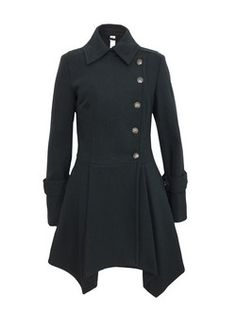 black jacket - I love the drape of the bottom and the asymmetry of the buttons.